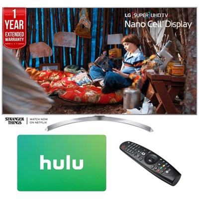 55SJ8000 SUPER UHD 55` 4K HDR Smart LED TV (2017) w/ Hulu + Extended Warranty