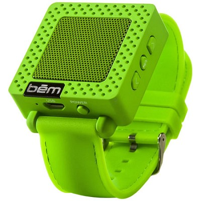 Band Bluetooth Wrist Speaker Watch (Green) - BEMSWG