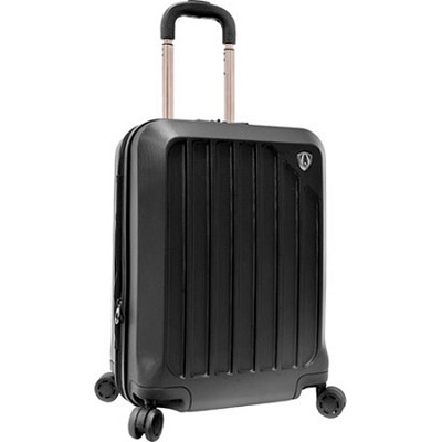 Traveler?s Choice Glacier 21` Hardshell Expandable Carry-On Spinner Luggage, Bla