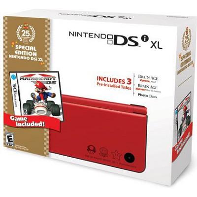 DSi XL Red Bundle with Mario Kart