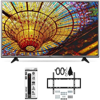 49UH6030 - 49-Inch 4K UHD Smart LED TV w/ webOS 3.0 Flat Wall Mount Bundle
