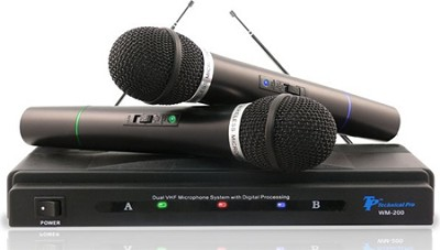 WM-201 Professional VHF Wireless Microphone System