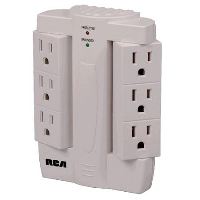 PSWTS6R 6 Swivel Outlet Surge Protector