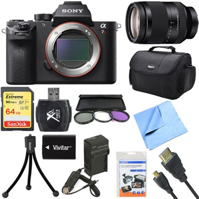a7R II Full-frame Mirrorless Interchangeable 42.4MP Camera 24-240mm Lens Bundle