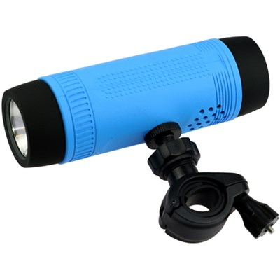 Sonic Cycle Bike Mount Speaker with LED Flashlight & Power Bank - Blue