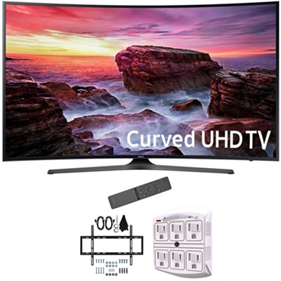 49` Curved 4K Ultra HD Smart LED TV 2017 Model with Wall Mount Bundle