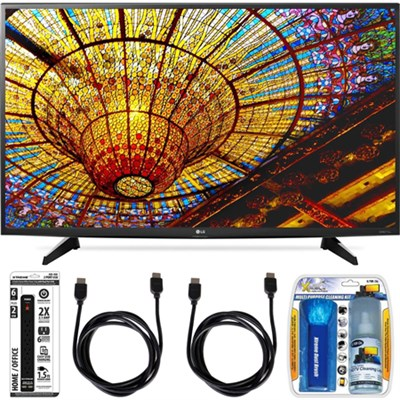 49UH6100 49-Inch UH6100 Series 4K UHD Smart TV with webOS 3.0 Accessory Bundle