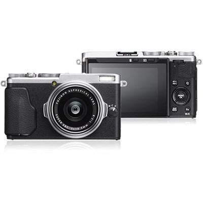 X-70 16.3MP X Series Compact Digital Camera w/ FUJINON 18.5mm F2.8 Lens (Silver)