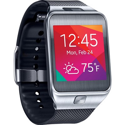 Gear 2 Dust and Water Resistant Black Watch with Camera and Heart Rate Sensor