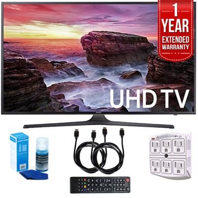 UN55MU6290FXZA Flat 54.6` LED 4K UHD Smart TV (2017) w/ Extended Warranty Kit