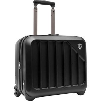 Traveler?s Choice Glacier 16` Hardshell Expandable Rolling Briefcase, Black