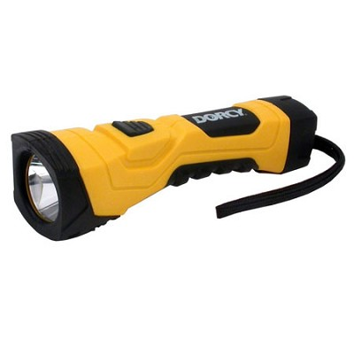 190-Lumen High Flux LED Cyber Light Flashlight with Alkaline Batteries, Yellow