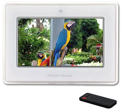 MI-PF 7-inch Digital Picture Frame & MP3 Player w/ Stereo Speakers