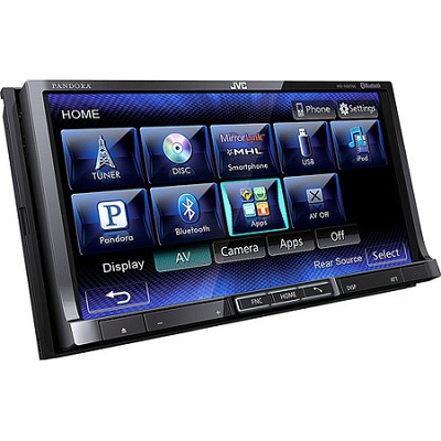 KWNSX700 Bluetooth Enabled In-Dash Double DIN A/V Reciever - OPEN BOX