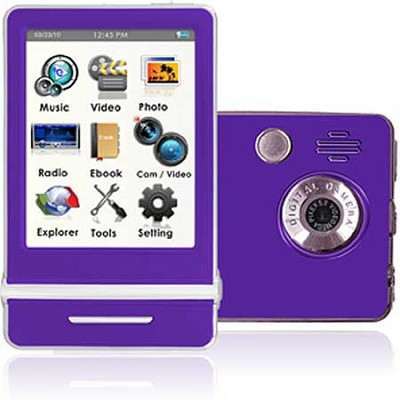 E4 Series - 3` Touch Screen MP3 Video Players 8GB w/ Digital Camera (Purple)