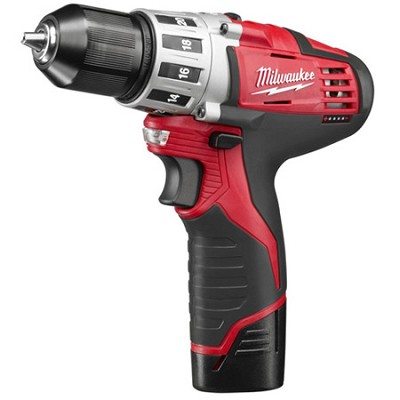 2410-22 M12 Cordless Lithium-Ion 3/8 inch Drill Driver With 2 Batteries