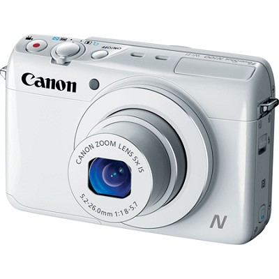 Powershot N100 12.1MP 5x Zoom 3-inch LCD Digital Camera - White