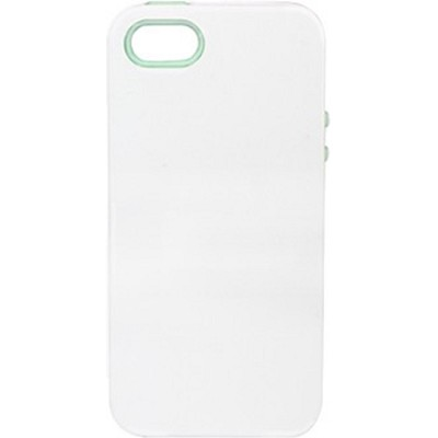 Inlay Hybrid Case for iPhone 5 - Santorini (White/Mint)