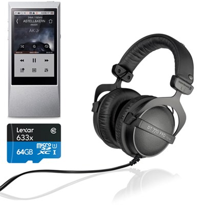 AK Jr. Hi-Res 64GB Music Player w/ BeyerDynamic DT770 Headphone + 128gb Micro SD