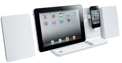 UXVJ3W iPad/iPod/iPhone Mini System 30-Watt Dual Dock (White) Refurbished