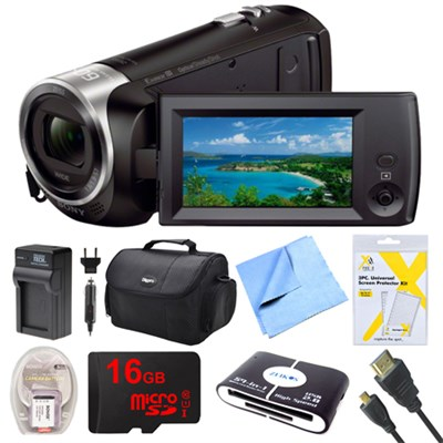 HD Video Handycam Camcorder 16GB Camera Bag Accessory Bundle HDR-CX405/B