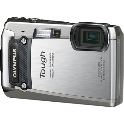 Tough TG-820 iHS 12MP Waterproof Shockproof Freezeproof Digital Camera - Silver