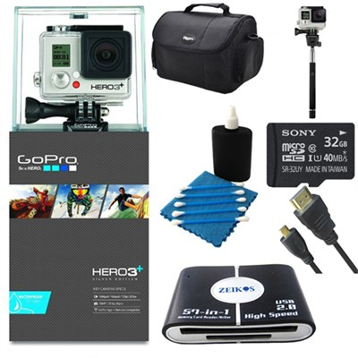 Camera HD HERO3+: Silver Edition Ultimate Kit