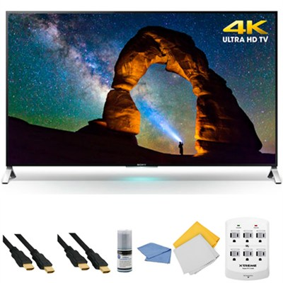 XBR-65X900C - 65-inch 4K Ultra HD 3D Smart LED TV + Hookup Kit