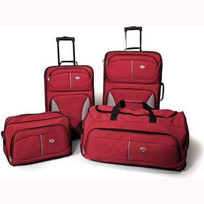 Fieldbrook Four-Piece Luggage Set (Red)