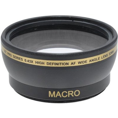 Pro .45x Wide Angle Lens w/ Macro 58mm threading (Black)