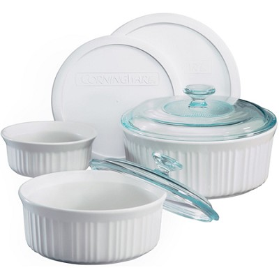 French White 7-Piece Bake and Serve Set