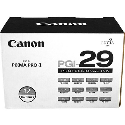 PGI-29 12-Color Ink Cartridge Set for Canon PIXMA PRO-1 Printer