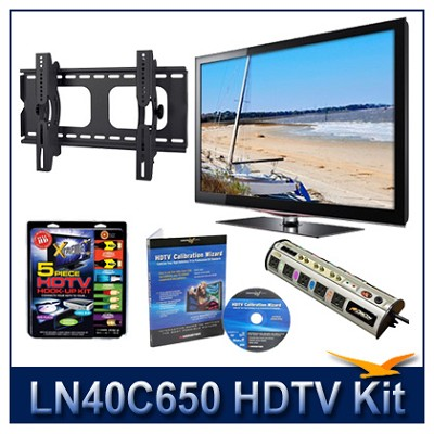 LN40C650 - 40` HDTV + Hook-up Kit + Power Protection + Calibration + Tilt Mount