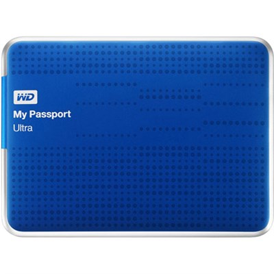 My Passport Ultra 1 TB USB 3.0 Portable Hard DriveBlue - Refurbished