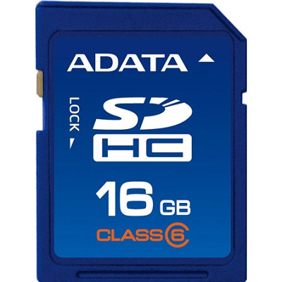 16 GB Secure Digital High-Capacity (SDHC) Class 6 -  ASDH16GCL6-R