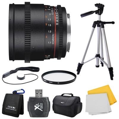 DS 85mm T1.5 Full Frame Cine Lens for Micro Four Thirds Mount Bundle