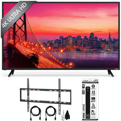 E70u-D3 - 70-Inch 4K SmartCast Ultra HD TV Home Theater w/ Flat Mount Bundle