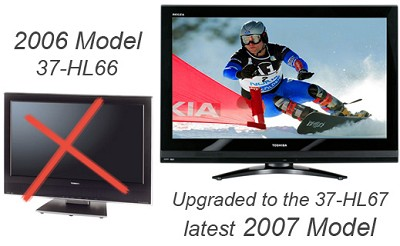 37HL66 - 37` Integrated High-definition LCD TV (upgraded to the Toshiba 37HL67)