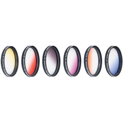 77mm Graduated Color Multicoated 6 Piece Filter Set with Fold Up Pouch