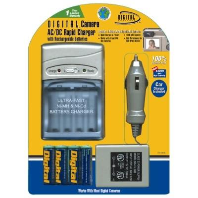 AA/AAA  AC/DC Rapid Charger w/4 AA Batteries