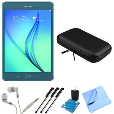 Galaxy Tab A SM-T350NZBAXAR 8-Inch Tablet (16 GB, Smoky Blue) Bundle