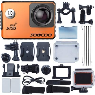 S100 Pro Sports Action Camera with Wifi GPS 4K IMX078 Sensor