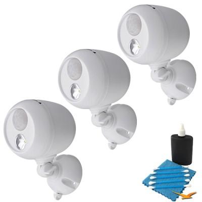 MB330 Wireless LED Spotlight with Motion Sensor 3-Pack - White