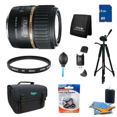 SP AF60mm F2 Di II LD (IF) 1:1 Macro Lens Pro Kit for Canon EOS