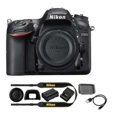 D7200 DX 24.2MP Digital SLR Camera Body with WiFi NFC - Manufacturer Refurbished