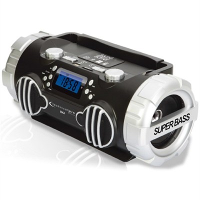 Rechargeable Portable Battery Powered Bluetooth Speaker - Black