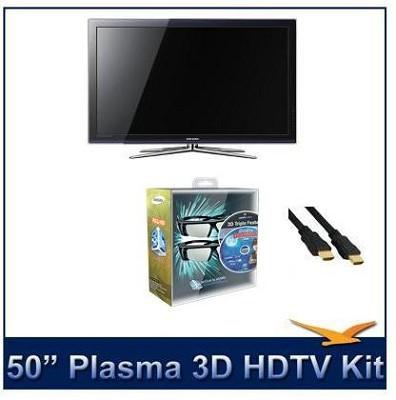 PN50C680 50-Inch 1080p Plasma 3D HDTV with Samsung 3D Starter Kit