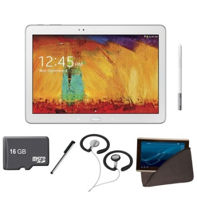 10.1 inch Galaxy Note Tablet 16GB WiFi White Bundle 2014