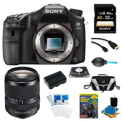 a77II 24.3MP HD 1080p DSLR Camera 18-135mm Lens Bundle