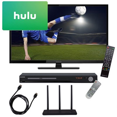 40 1080p 60Hz LED HDTV w/ Terk HD Antenna  TV Tuner $25 Hulu Gift Card